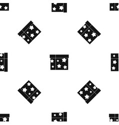 Box magician pattern seamless black vector