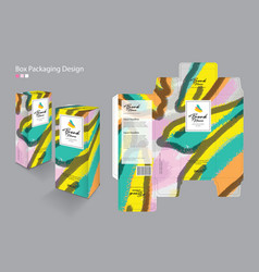 Box packaging packaging design template vector