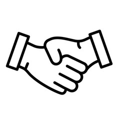 Bribery handshake icon outline style vector