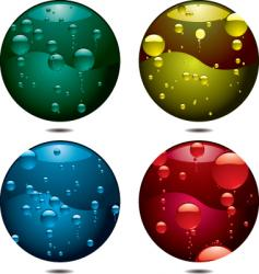 Bubble button vector