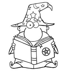 Cartoon wizards casting spells vector image vector image
