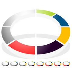 circular preloader progress indicator icon w 8 vector image
