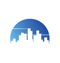 Cityscape building urban logo vector