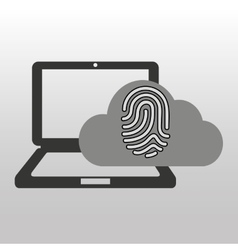 Cloud computer connected fingerprint secure vector