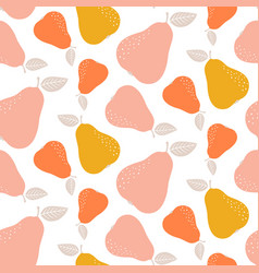 Colorful seamless pear pattern repetitive simple vector