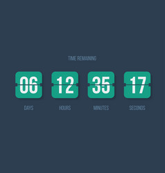 Countdown clock flip counter digital timer vector
