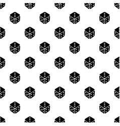 cube casino pattern seamless vector image
