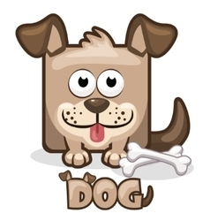 cute cartoon square dog vector image