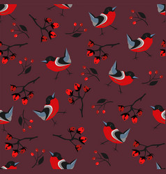cute summer seamless pattern with colorful bird vector image