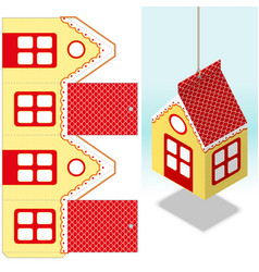 Decorativehanging paper house decoration real vector