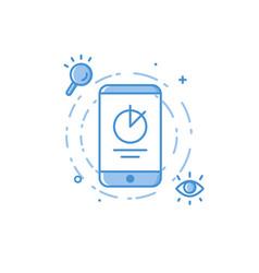 design concept mobile seo vector image
