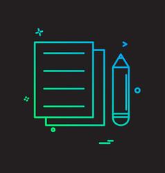 document pencil icon design vector image