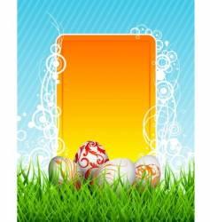 Easter illustration vector image vector image