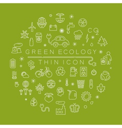 Eco thin icons eps10 format vector