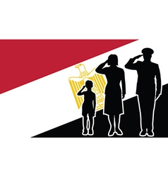 Egypt republic soldier family salute vector