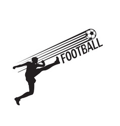 football human kicks the ball background im vector image