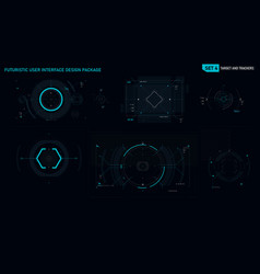 futuristic user interface design element set 04 vector image