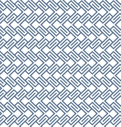 Geometric wattled seamless pattern vector image
