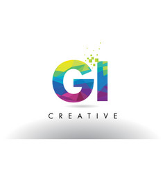 Gi g i colorful letter origami triangles design vector