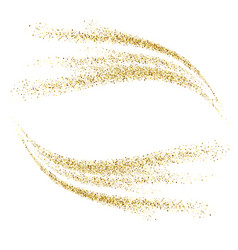 gold glitter waves abstract background vector image