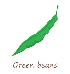 green beans icon isometric style vector image