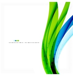 Green blue wave lines vector image