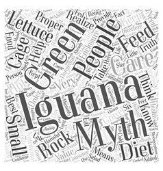 Green iguanas word cloud concept vector