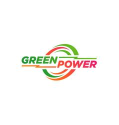 green power logo design symbol vector image