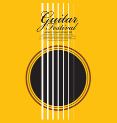 Guitar music festival poster vector