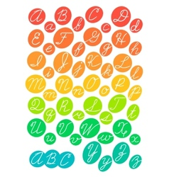 Hand drawn bright alphabet vector image