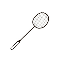Hand drawn racket vector
