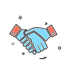 hands shake icon design vector image