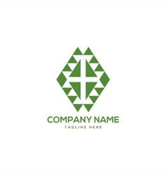 Health symbol geometric logo design vector
