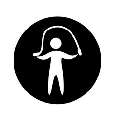 Human figure doing exercise vector