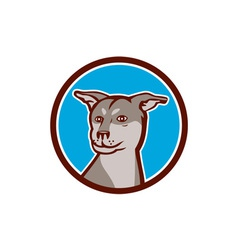 Husky Shar Pei Cross Dog Head Cartoon vector image