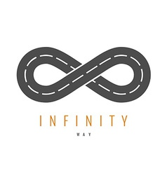 Infinity road logo Loop way symbol vector