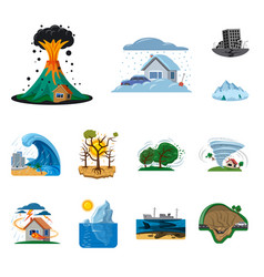 Isolated object of natural and disaster logo vector