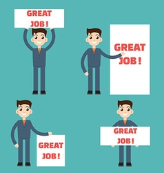 Job placard set vector
