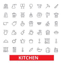Kitchen cooking tools restaurant utensils vector