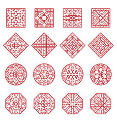 korean ornament traditional asian geometrical vector image