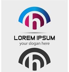 Letter H Logo Design Creative Symbol of letter H vector image