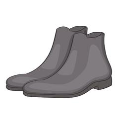 Mens winter boot icon cartoon style vector