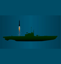 Missile undersea launch vector