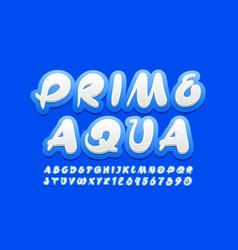 Modern logo prime aqua handwritten font vector