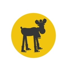 Moose silhouette icon vector