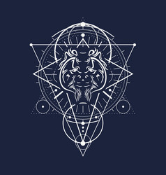 Mystical occult symbol vector