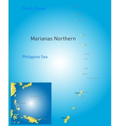 northern mariana islands map vector image