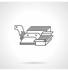 Oil pump jack flat icon vector