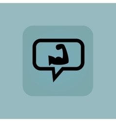 Pale blue muscular arm message vector image