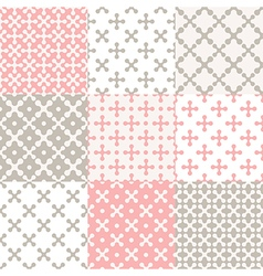 Pattern set cross vector image